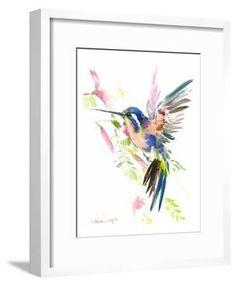'Hummingbird Flying' Art Print - Suren Nersisyan | Art.com Watercolor Bird, Watercolor Paintings, Hummingbird Art, Giclee Print, Art Print, Gift Certificates, Wall Prints, Free Design, Framed Artwork