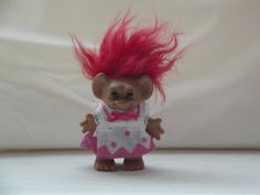 Vintage Troll Doll, Vintage Red Hair Troll Doll (1970's/1980's) - VERY RARE by BunkysVintageCrafts on Etsy