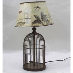 Lampara Birdcage Bird Cage, Lighting, Home Decor, Houses, Crafts, Bird Cages, Lights, Interior Design, Home Interiors