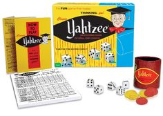 Classic Yahtzee by Winning Moves List Price:$12.99 Price:$11.37 & FREE Shipping on orders over $35. https://www.amazon.com/dp/B00B28GVLG?tag=howtobuild005-20&camp=0&creative=0&linkCode=as4&creativeASIN=B00B28GVLG&adid=1Z9ME61Z02ENE0GHE0PF&