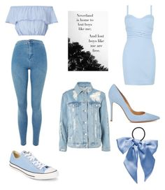 """""""Wendy Darling"""" by unstoppablejiley on Polyvore featuring Miss Selfridge, Topshop, Boohoo, Converse, Gianvito Rossi and L. Erickson"""