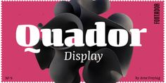Font dňa – Quador Display   https://detepe.sk/font-dna-quador-display
