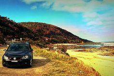 A bit of actual Great Oceanl Road.  #greatoceanroad #trip #great #ocean #road #Coast #australiancoast #beautiful #australia #car #golf #vw #beach #sky #skyline #seaside #super by marioetes