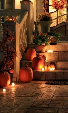 Pumpkins and candles!