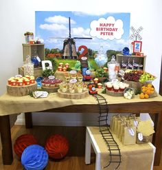 Thomas the Tank Engine 2nd Birthday Candy and Dessert Bar | CatchMyParty.com