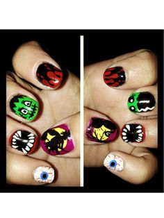 Crazy Halloween Nails