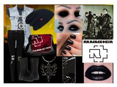 I in rammstein's concert by slytheriner on Polyvore featuring VILA, Boohoo and BC Footwear