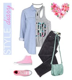 """Untitled #45"" by roludito on Polyvore featuring Aéropostale, Topshop, Converse and Roxy"