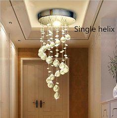Modern Silver Chrome Crystal ceiling Lights lamp Fitting Pendant Chandelier