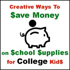 Creative Ways To Save Money on College School Supplies Tips from Mom Alway Finds Out #BackToSchool