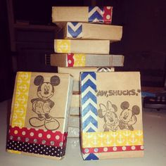 Fish Extender gift  for older kids.. Deck of playing cards wrapped with paper bag and washi tape!