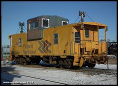 Ontario Northland caboose 126 sits on Cochrane Shops' Rip 2 track awaiting scheduled work November 1st.