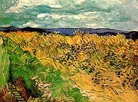 Van Gogh: Wheat Field with Corn-flowers. Auvers-sur-Oise: July 1890