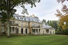 American-French Country House Greenwich, CT | Wadia Associates Luxury Home Builders Dream Home Design, House Design, Stone Mansion, Tudor Style Homes, French Country House, Country Houses, Luxury Real Estate, Home Builders, Marketing Digital