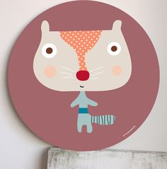 Kids wall art, prints and murals-Cuadros infantiles, láminas y tarjetas para fiestas — ¡Nuevo! Cuadro infantil Woodpi- New! wall art