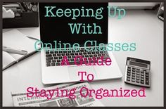 Keeping Up With Online Classes: How To Stay Organized. Tips for college college student tips #college #student