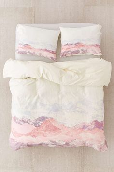 Slide View: 1: Iveta Abolina For DENY Pastel Mountains III Duvet Cover