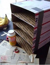 Image result for file organizer from cereal box