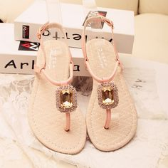 Aliexpress.com : Buy free shipping Jacqueminot 2013 sparkling gem rhinestone pinch flat sandals flip flop female  b5236 from Reliable designer sandals suppliers on Professional Hair Jewelry. $15.03