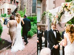wedding ceremony - photo by Redfield Photography http://ruffledblog.com/romantic-philadelphia-wedding