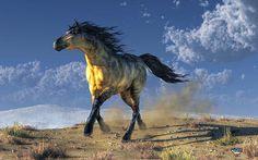 """A Horse in the Desert"" ...and he has no name :)  #digitalart by Daniel Eskridge"
