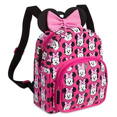 [Happy face]Minnie's 3D ears stick out so she can listen to all the compliments you'll get when carrying this cute backpack. Part of our contemporary MXYZ Collection, the allover design features Minnie's happy face with a number of different expressions.