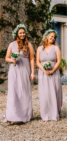 Sheath V-neck Sleeveless Open-back Long Bridesmaid Dresses With Split, BD1016#bridesmaids #bridesmaiddress #bridesmaiddresses #dressesformaidofhonor #weddingparty #2020bridesmaiddresses