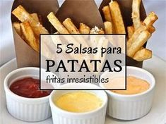 5 Salsas para patatas fritas irresistibles