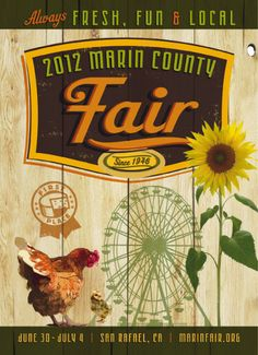 Postcard design by Mark Shepard Graphic Design for Marin County Fair