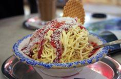 Spaghetti-ijs: smakelijk of niet?