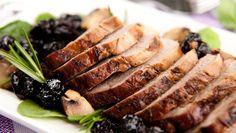 Lomo de cerdo en salsa de ciruela