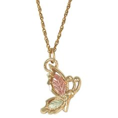 Gold Butterfly Pendant & Necklace