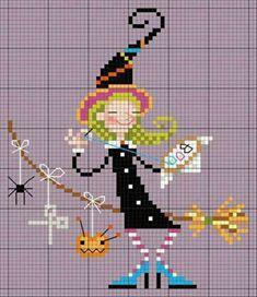 Cross Stitch For Kids, Cross Stitch Love, Cross Stitch Needles, Cross Stitch Charts, Counted Cross Stitch Patterns, Cross Stitch Embroidery, Halloween Embroidery, Halloween Cross Stitches, Halloween Quilts