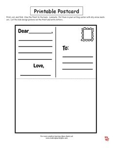 Community Helpers Mail carrier Printable