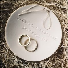 luxury wedding and baby gifts, personalized holiday ornaments, ring bearer bowls, children's furniture Diy Clay, Clay Crafts, Beige Wedding, Ibiza Wedding, Destination Wedding, Clay Ornaments, Personalized Christmas Ornaments, Bride Gifts, Clay Jewelry