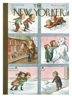 The New Yorker Cover - February 4, 1939 Giclee Print by William Steig at Art.com