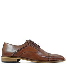 Stacy Adams Men's Ryland Memory Foam Cap Toe Oxford Shoes (Cognac Leather) - M Professional Shoes, Memory Foam, Derby, Kicks, Oxford Shoes, Dress Shoes, Lace Up, Toe, Leather