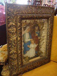victoriana  religious shadow box