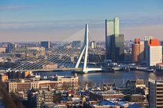 Fotobehang - Steden - Rotterdam - Erasmusbrug