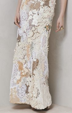 Would love to make this....maybe even a wedding dress combining lace over several generations.