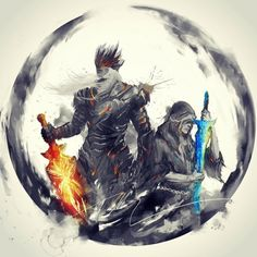 Dark Souls 3: The Twin Princes, Lorian and Lothric. By http://shimhaq98.tumblr.com
