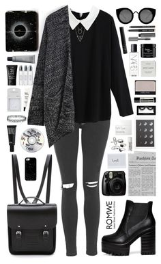 """Romwe 7"" by scarlett-morwenna ❤ liked on Polyvore featuring Topshop, The Cambridge Satchel Company, Aesop, NARS Cosmetics, Byredo, Casetify, Make, Quay, Mudd and philosophy"