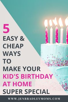 Do you need some cheap, fun and easy birthday ideas for kids? The best thing about these 5 fun birthday ideas is that they are also super meaningful and can become special birthday traditions your kids will look forward to every year! It's doesn't take a giant, expensive birthday party to help your kids feel loved and celebrated on their birthday.   #birthdayideasforkids #kidsbirthday #birthdayideas Birthday For Him, Special Birthday, Birthday Fun, Birthday Party Themes, Birthday Ideas, Birthday Stuff, 10th Birthday, Gentle Parenting, Parenting Hacks