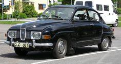 Zwarte Saab 96