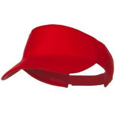 Brushed Bull Denim Sun Visor - Red