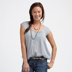 #teacollection pretty pintuck top $78 soft, comfortable, and classy...and again, easy to nurse in.