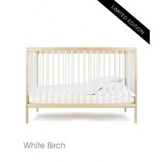 moKee Mini Transformable Baby Cot Bed | 120 x 60 cm | White Birch * LIMITED EDITION *