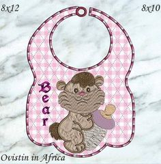 Bottle Babies Bibs Large and Small Baby Bottles, Baby Bibs, Applique, Embroidery, Animals, Bibs, Animaux, Animal, Drawn Thread