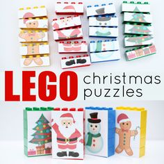 These DIY LEGO Christmas Puzzles are super easy to make and tons of fun to play with! The perfect Christmas activity for toddlers and preschoolers!
