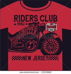 motorcycle graphic design for t-shirt